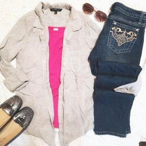 •velvet heart• grey long sleeve button up